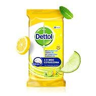 DETTOL Antibakteriální ubrousky na povrchy Citron a Limeta 32 ks - Čisticí ubrousky