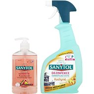 SANYTOL Duopack Disinfection degreasing kitchen cleaner + disinfecting liquid soap kitchen - Toiletry Set
