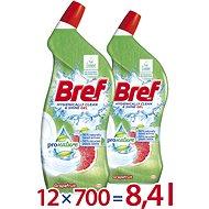 BREF Pro Nature Grapefruit 12× 700ml - Eco-Friendly Toilet Gel