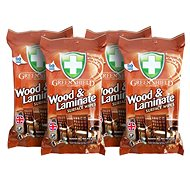 GREEN SHIELD na dřevo a lamináty 4× 50 ks - Čisticí ubrousky