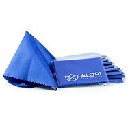 ALORI Microfiber cloth 14 × 14 cm, blue, 10 pcs