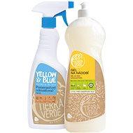 YELLOW&BLUE Gel BIO citron 1 l + Pomerančový odmašťovač sprej 750 ml - Eko prostředek na nádobí