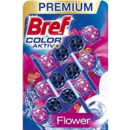 BREF Blue Activ Fresh Flower 3 × 50g - Toilet Cleaner