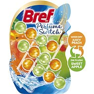 BREF Parfume Switch Peach-Red Apple 3 × 50 g - WC blok