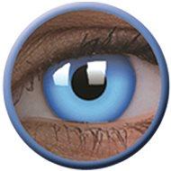 ColourVue Crazy UV svítící - Glow Blue, roční, nedioptrické, 2 čočky - Kontaktní čočky
