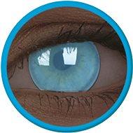 ColourVue Crazy čočky UV svítící - Electric Blue (2 ks roční) - nedioptrické - Kontaktní čočky