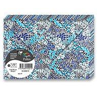 CLAIREFONTAINE 114 x 162mm s květinovým motivem v tmavě modrém tónu 120g - balení 20ks - Poštovní obálka