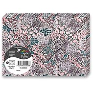 CLAIREFONTAINE 114 x 162mm s květinovým motivem ve fialovém tónu 120g - balení 20ks - Poštovní obálka