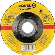Vorel Kotouč na kov 115 x 22 x 6,0 mm vypouklý brusný - Brusný kotouč