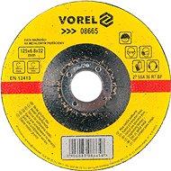Brusný kotouč Vorel Kotouč na kov 125 x 22 x 6,8 mm vypouklý brusný
