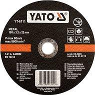 Yato Kotouč na kov 125 x 22 x 1,2 mm - Řezný kotouč