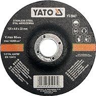 Yato Kotouč na kov 125 x 22 x 6,8 mm vypouklý brusný INOX - Řezný kotouč
