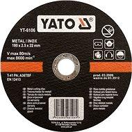 Yato Kotouč na kov 125 x 22 x 1,2 mm INOX - Řezný kotouč