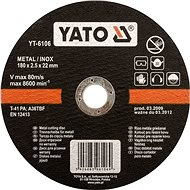Yato Kotouč na kov 230 x 22 x 2,0 mm INOX - Řezný kotouč