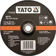 Yato Kotouč na kov 125 x 22 x 6,0 mm vypouklý brusný - Řezný kotouč