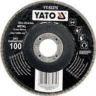 Lamelový kotouč Yato Kotouč lamelový brusný na kov 125x22,4mm P100 - Lamelový kotouč