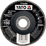 Lamelový kotouč Yato Kotouč lamelový korundový 125 x 22,2 mm vypouklý brusný P60