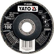 Yato Kotouč lamelový korundový 125 x 22,2 mm vypouklý brusný P80 - Lamelový kotouč