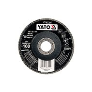 Lamelový kotouč Yato Kotouč lamelový korundový 125 x 22,2 mm vypouklý brusný P100