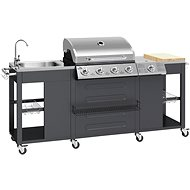 VICENZA Garden Kitchen with Gas Grill 2m x 0.6m - Grill