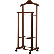 Compactor Stand for Dress Hector 2, Double on Wheels, Natural Walnut - Stand