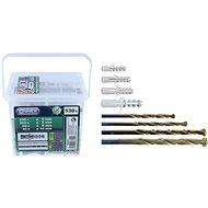 CONNEX Hmoždinky 5,6,8,10 mm, 530ks, 4 vrtáky, BOX - Hmoždinky