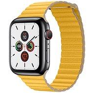 COTEetCI kožený magnetický řemínek Loop Band pro Apple Watch 38 / 40mm žlutý - Řemínek