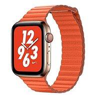 COTEetCI kožený magnetický řemínek Loop Band pro Apple Watch 38 / 40mm oranžový - Řemínek
