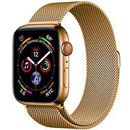 COTEetCI ocelový magnetický řemínek pro Apple Watch 38 / 40 / 41 mm zlatý - Řemínek