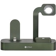 COTEetCI nabíjecí stanice Base29 3v1 pro Apple iPhone & Watch & AirPods/Pro zelená - Nabíjecí stojánek