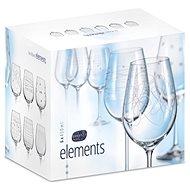 BOHEMIA CRYSTAL na víno 450ml 6ks ELEMENTS - Sklenice na víno