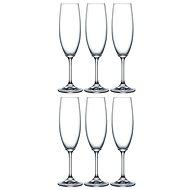 BOHEMIA CRYSTAL na šampaňské LARA 220ml 6ks - Sklenička na šampaňské
