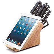 CS Solingen Sada nožů v bloku s držákem na tablet PREMIUM 8ks - Sada nožů