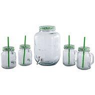 CS Solingen Dispenzor na nápoje a sada sklenic 4ks zelená - Nápojový automat