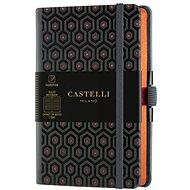 Zápisník CASTELLI MILANO Copper&Gold Honey, velikost S Orange