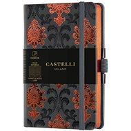 Zápisník CASTELLI MILANO Copper&Gold Baroque, velikost S Orange
