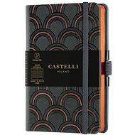 Zápisník CASTELLI MILANO Copper&Gold Deco, velikost S Orange