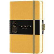 Zápisník CASTELLI MILANO Aqua Mustard, velikost S