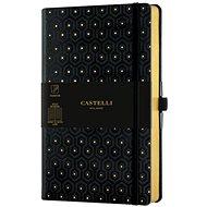 Zápisník CASTELLI MILANO Copper&Gold Honey, velikost M Gold