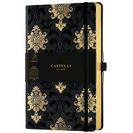 Zápisník CASTELLI MILANO Copper&Gold Baroque, velikost M Gold