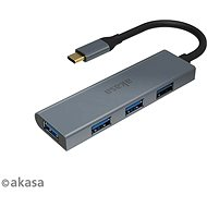AKASA USB Type-C Hub  - 4 x USB3.0 Type A / AK-CBCA25-18BK