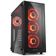 Sharkoon TG5 Glass Red - Počítačová skříň