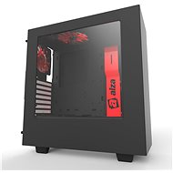 NZXT S340 Alza PC black and red - PC Case