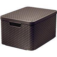 Curver STYLE BOX s víkem L, 03619-210 – hnědý - Úložný box