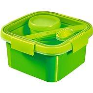 Curver SMART TO GO 1,1l s příborem, mističkou a táckem - zelená - Dóza