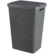 Curver Koš na špinavé prádlo Jute - tmavě šedá - Koš na prádlo