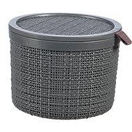 Curver Košík Jute kulatý - tmavě šedá - Úložný box