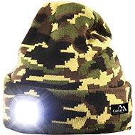 Cattara Čepice ARMY s LED svítilnou USB nabíjení