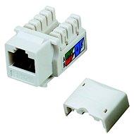 Datacom RJ45 UTP CAT5E (DUAL) MINI bílý - Keystone