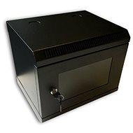 """Datacom 10"""" 6U/280 mm (sklo) černý - Rozvaděč"""